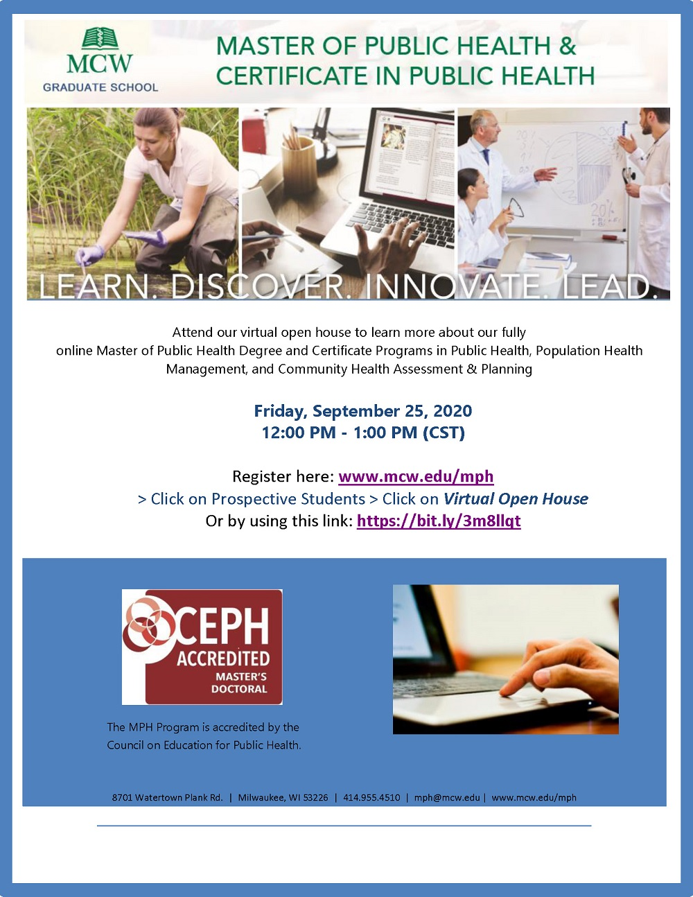 Medical College of Wisconsin Virtual Open House