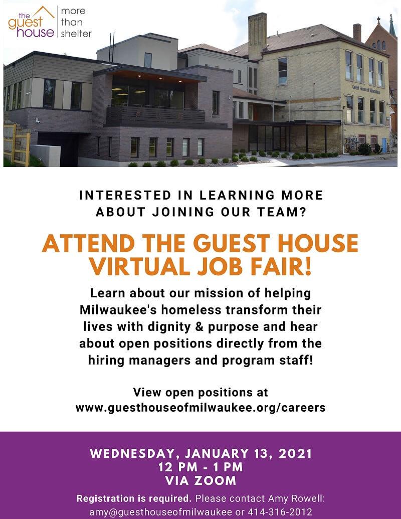 2021 January Guest House Virtual Job Fair